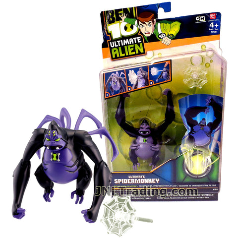 Cartoon Network Year 2010 Ben 10 Ultimate Alien Series 3 Inch Tall Figure - Ultimate SPIDERMONKEY with Web Launcher and 1 Web Missile