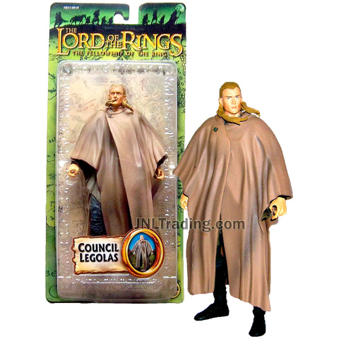 Year 2005 The Lord of the Rings Movie The Fellowship of the Ring Series 7 Inch Tall Action Figure - COUNCIL LEGOLAS in Robe