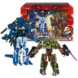 Transformer Year 2009 Revenge of the Fallen Figure Set - MASTER OF METALLIKATO with Voyager Class Autobot WHIRL and Deluxe Class Decepticon BLUDGEON