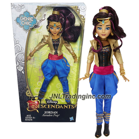 Hasbro Year 2015 Disney Descendants Genie Chic Series 12 inch Doll - Auradon Prep JORDAN with Earrings and Choker Necklace