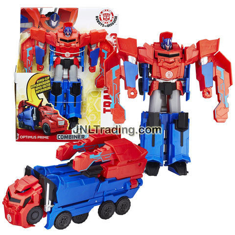 Hasbro Year 2016 Transformers Robots In Disguise Combiner Force 3 Steps Change 8 Inch Tall Figure - OPTIMUS PRIME (Vehicle Mode: Rig Truck)