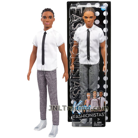 2016 BARBIE FASHIONISTA HANDSOME AFRICAN AMERICAN KEN # 10 CLASSIC COOL  MINT