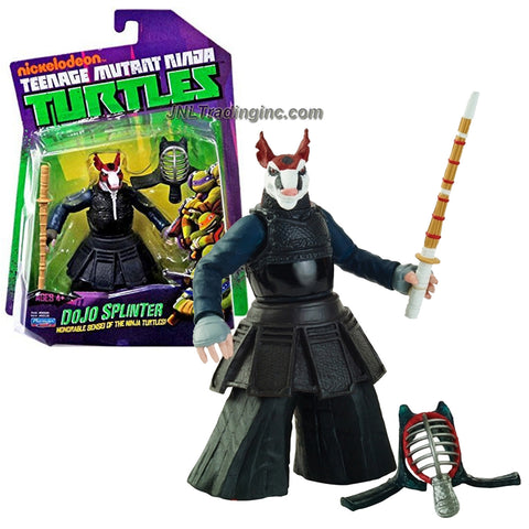Playmates Year 2014 Nickelodeon Teenage Mutant Ninja Turtles 5 Inch Tall Action Figure - Honorable Sinsei of the Ninja Turtles DOJO SPLINTER with Kendo Helmet and Shinai Sword