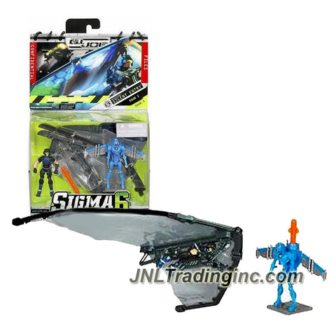 Hasbro Year 2006 G.I. JOE Sigma 6 Mission Manual Series 2-1/2 Inch Tall Action Figure - SILENT ENTRY with DUKE, H.A.S.T.E. Glider and Cobra SKY B.A.T. v7 with Missile Launcher Backpack and 1 Missile