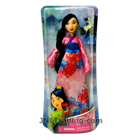 Disney Year 2017 Princess Royal Shimmer Series 12 Inch Doll Set - MULAN E0280 in Pink Traditional Outfit