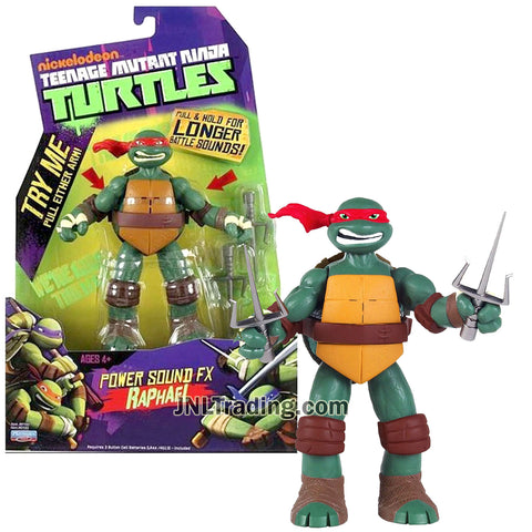 Year 2013 Teenage Mutant Ninja Turtles TMNT Power Sound FX Series 6 Inch Tall Electronic Figure - RAPHAEL with Battle Sounds amd Twin Sai