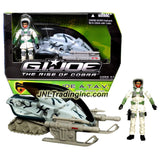"Hasbro Year 2008 G.I. JOE Movie Series ""The Rise of Cobra"" Vehicle Set - ROCKSLIDE A.T.A.V with Turning Front Skis, Missile Launcher with 2 Missiles and Pivoting Treads Plus SNOW JOB Action Figure"