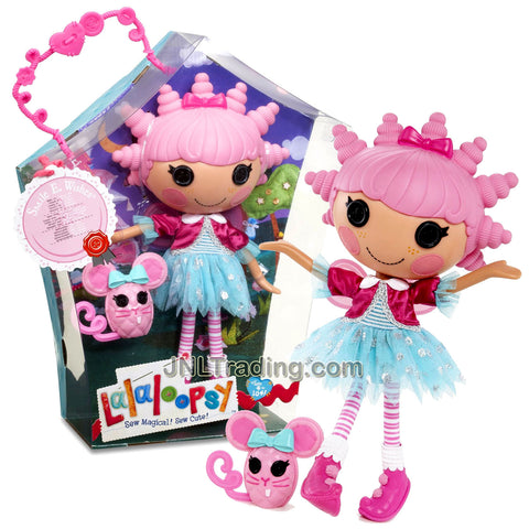 Lalaloopsy Sew Magical! Sew Cute! 12 Inch Tall Button Doll - Smile E. Wishes with Pet Pink Mouse