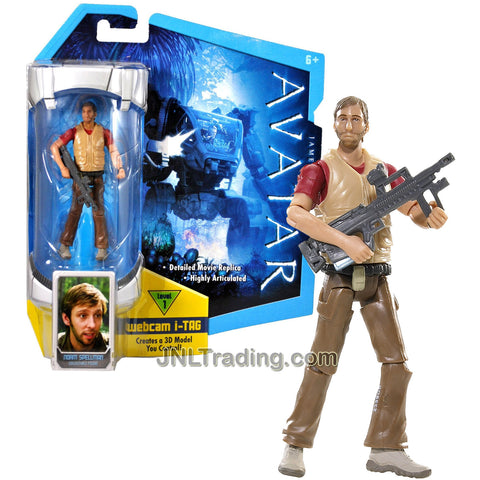Mattel Year 2009 James Cameron's Avatar Highly Articulated Detailed 4 Inch Tall Movie Replica Action Figure - Xenoanthropologist NORM SPELLMAN with Assault Rifle and Level 1 Webcam i-Tag