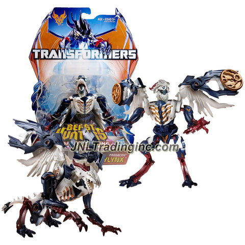 "Hasbro Year 2013 Transformers Prime ""Beast Hunters - Predacon Rising"" Series Exclusive Deluxe Class 6 Inch Tall Robot Action Figure - Predacon SKYLYNX with 2 Discs (Beast Mode: Red Horn Dragon)"