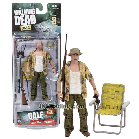 Year 2016 AMC TV Series Walking Dead 5 Inch Tall Figure - DALE with Hat, Binoculars, Rifle and Folding Chair