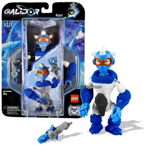 "Lego Year 2002 Galidor ""Defenders of the Outer Dimension"" Deluxe Series 6-1/2 Inch Tall Figure Set # 8320 - Siktari Warrior NEPOL with Gripper Arm (Total Pieces: 9)"