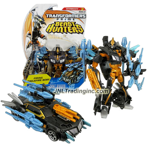 "Hasbro Year 2013 Transformers Prime ""Beast Hunters"" Series Deluxe Class 6 Inch Tall Robot Action Figure - #015 Autobot NIGHT SHADOW BUMBLEBEE with Eagleshot Bow and 6 Arrow Missiles (Vehicle Mode: Sports Car)"