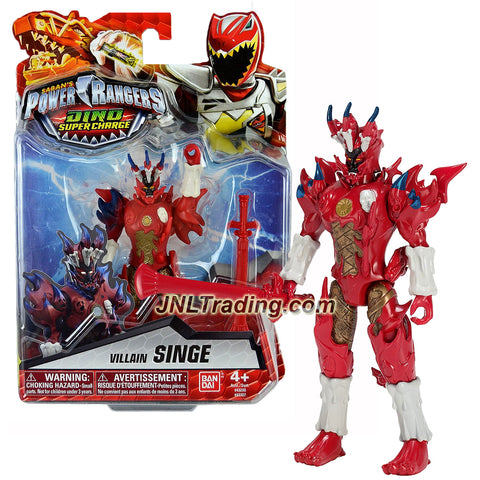 Bandai Year 2016 Saban's Power Rangers Dino Super Charge Series 5-1/2 Inch Tall Action Figure - Villain SINGE with Battle Sword