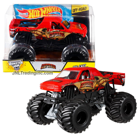 "Hot Wheels Year 2014 Monster Jam 1:24 Scale Die Cast Metal Body Official Monster Truck Series #BGH39 - DESPERADO with Monster Tires, Working Suspension and 4 Wheel Steering (Dimension : 7"" L x 5-1/2"" W x 4-1/2"" H)"