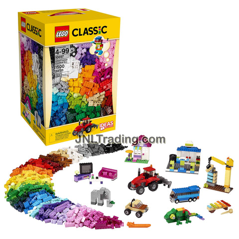 Lego Year 2015 Classic Set #10697 - LARGE CREATIVE BOX with 4 Different Sets of Eyes, 2 Types of Window, 4 Window Frames, 3 Doors, 3 Door Frames, 16 Tires and 14 Wheel Rims (Total Pieces: 1500 Pcs)