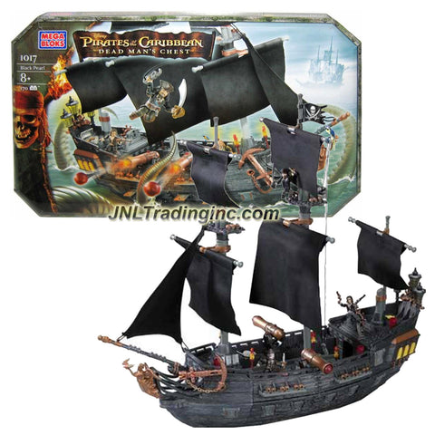 Mega Bloks Year 2006 Disney Pirates of the Caribbean - Dead Man's Chest Series Set #1017 - BLACK PEARL with Jack Sparrow, Pintel and Will Turner Figure (Total Pieces: 170)