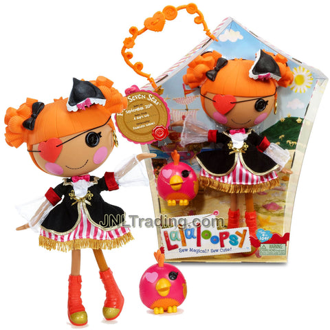 Lalaloopsy Sew Magical! Sew Cute! 12 Inch Tall Button Doll - Peggy Seven Seas with Pet One-Eyed Parrot