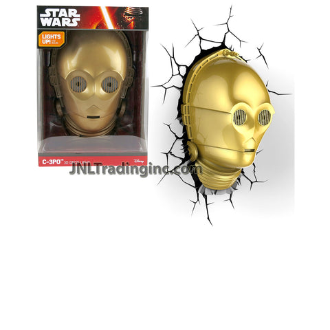 3DLightFX Star Wars Series Battery Operated 3D Deco Night Light : C-3PO HEAD with Light Up LED Bulbs