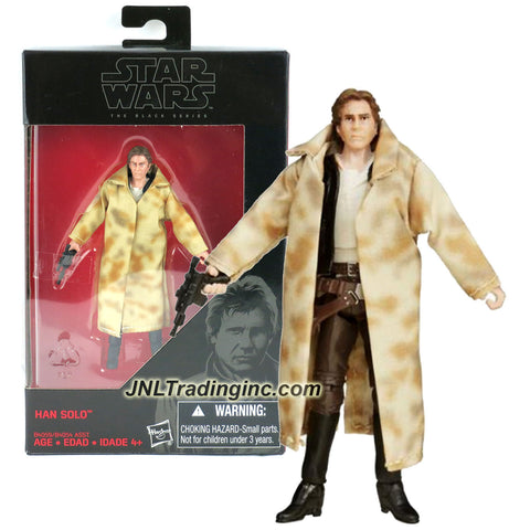 Hasbro Year 2015 Star Wars The Black Series Exclusive 4 Inch Tall Action Figure - HAN SOLO in Endor Trenchcoat (B4059) with Blaster
