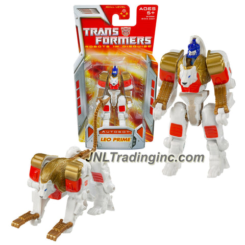 Hasbro Year 2007 Transformers Classic Series Cybertron Collection Legends Class 3 Inch Tall Robot Action Figure - Autobot LEO PRIME (Beast Mode: Lion)