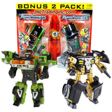 Transformer Year 2007 Universe Series 2 Pack Deluxe Class 6 Inch Tall Figure Set - SEARCH FOR THE PIRATE MOON with Autobot DOWNSHIFT and Decepticon CANNONBALL Plus 2 Cyber Planet Keys