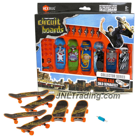 Hexbug Year 2014 Tony Hawk Circuit Boards 6 Pack Set - Ben Raybourn Cat (002-BH), Party Animals (004-BH), Clint Walker Monkey (005-BH), Forest Hawk (013-BH), 2 Head Hawk (019-BH) & Iron Hawk (020-BH)