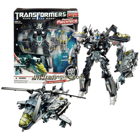 Transformer Year 2010 Dark of the Moon Movie Series Voyager Class 7 Inch Tall Figure - Autobot SKYHAMMER with MechTech Energon Sword Rifle (Vehicle Mode: Chopper)