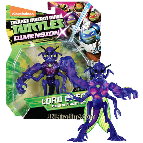 Year 2015 Teenage Mutant Ninja Turtles TMNT Dimension X Series 5 Inch Tall Action Figure - Ruler of Planet Sectoid LORD DREGG