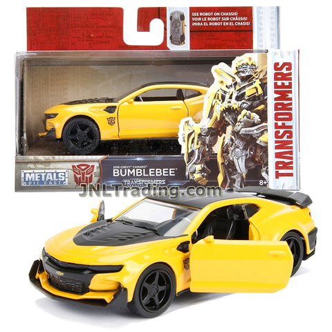 Jada Year 2017 Transformers The Last Knight Series 1:32 Scale Die Cast Metal Cars - BUMBLEBEE (2016 Chevy Camaro) with Opening Doors