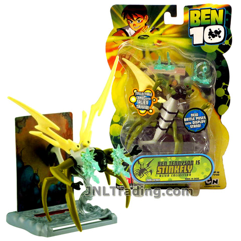 Cartoon Network Year 2007 Ben 10 Alien Collection Series 4 Inch Tall Figure - Ben Tennyson as STINKFLY with Display Stand and Collectible Card