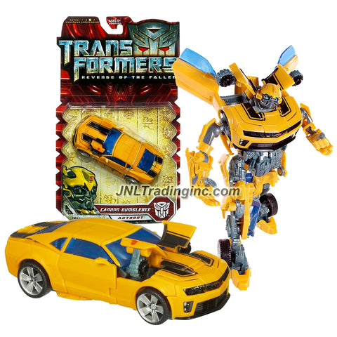 "Hasbro Year 2009 Transformers Movie Series 2 ""Revenge of the Fallen"" Deluxe Class 6 Inch Tall Robot Action Figure - Autobot CANNON BUMBLEBEE with Pop Out Cannons (Vehicle Mode: Camaro Concept)"