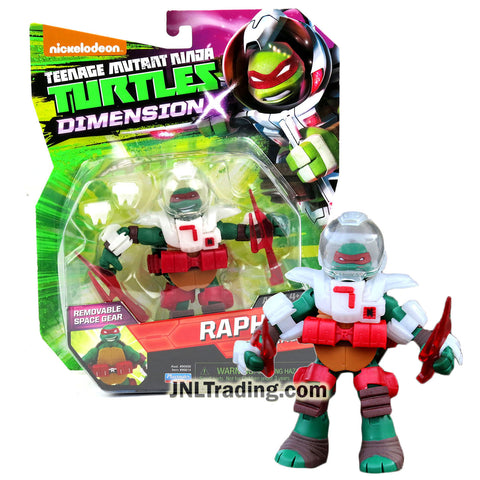 Year 2015 Teenage Mutant Ninja Turtles TMNT Dimension X Series 5 Inch Tall Figure - Space Battler RAPHAEL with Space Suit and Sais