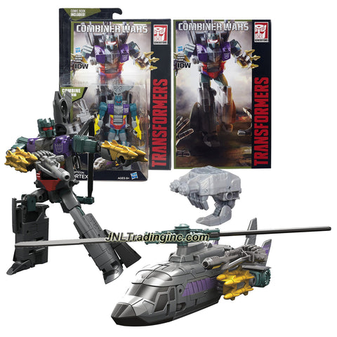 "Hasbro Year 2015 Transformers Generations Combiner Wars Series 5-1/2"" Tall Robot Figure - Decepticon VORTEX with Blaster, Bruticus' Left Arm and Comic Book (Vehicle Mode: Helicopter)"