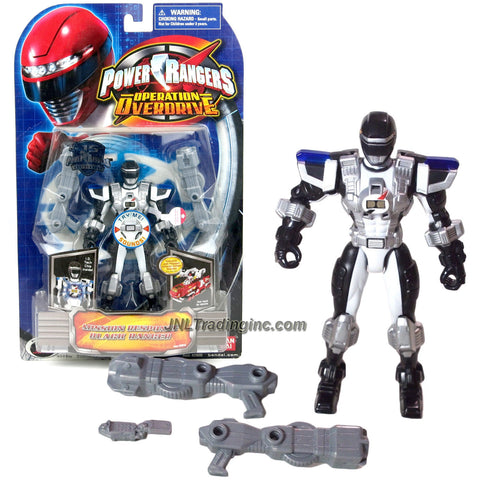 Bandai Year 2007 Power Rangers Operation Overdrive Series 6 Inch Tall Action Figure - Mission Response BLACK RANGER with I.D. Tech Chip Inside and 2 Blaster Rifles