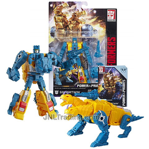 Year 2017 Transformers Generations Power of the Primes Series Deluxe Class 6 Inch Tall Figure - Terrorcon SINNERTWIN with Blaster, Prime Armor and Collector Card (Beast Mode: 2 Headed Dragon)