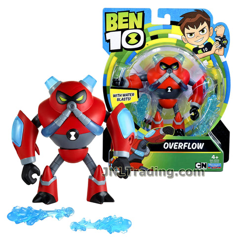 Cartoon Network Year 2017 Ben 10 Series 4-1/2 Inch Tall Figure - OVERFLOW with Water Blasts