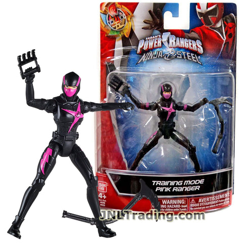Power Rangers Year 2017 Ninja Steel Series 5 Inch Tall Figure - Training Mode PINK RANGER with Claw and Sickle