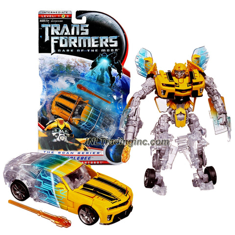"Hasbro Year 2011 Transformers Movie 3 ""Dark of the Moon"" Exclusive ""The Scan Series"" Deluxe Class 6 Inch Tall Robot Action Figure - BUMBLEBEE with Pulse Missile (Vehicle Mode: Camaro Concept)"