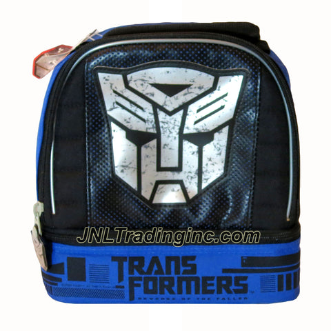 "Zak! Transformers Movie Series 2 Revenge of the Fallen Series Double Compartment Soft Insulated Lunch Bag with Image of Autobot Symbol (Dimension: 8"" x 9"" x 4"")"