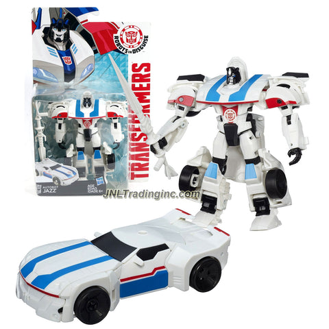 Hasbro Year 2014 Transformers Robots in Disguise Animation Series Deluxe Class 5 Inch Tall Robot Action Figure - AUTOBOT JAZZ with Battle Lance (Vehicle Mode: Sports Car)