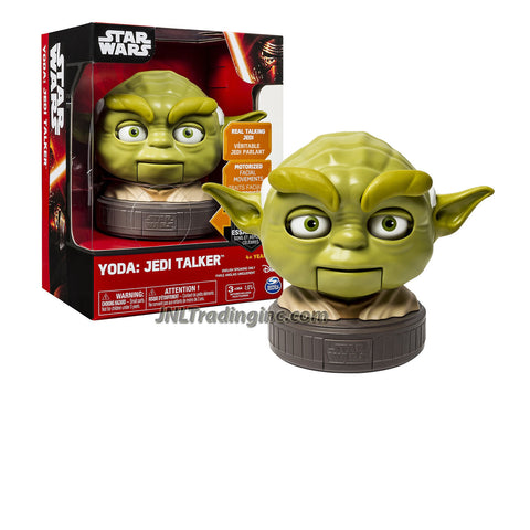 "Spin Master Star Wars Real Talking Jedi with Motorized Facial Movement 5-1/2"" Tall Figure - YODA the Jedi Talker"