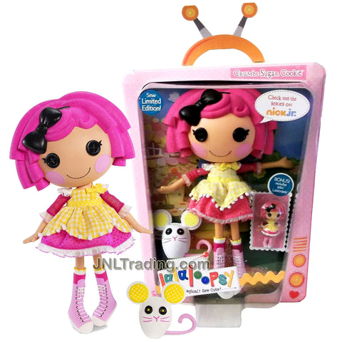 Lalaloopsy Sew Magical! Sew Cute! Limited Edition 12 Inch Tall Button Doll - Crumbs Sugar Cookie with Pet Mouse and Mini 3 Inch Doll
