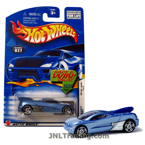Hot Wheels Year 2001 First Editions Series 1:64 Scale Die Cast Car Set #15 - Light Blue Color Futuristic Sports Coupe BACKDRAFT