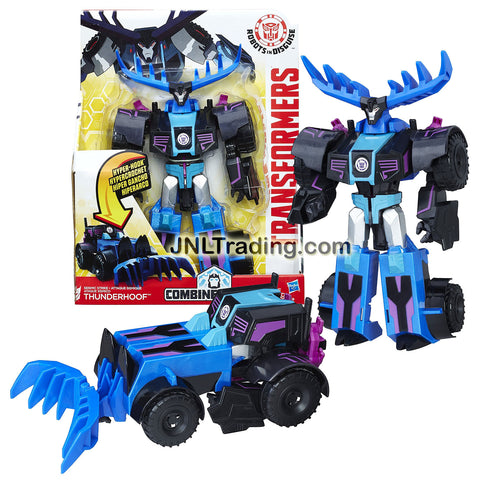 Transformer Year 2016 Robots In Disguise Combiner Force Series 3 Steps Change 9 Inch Tall Figure - Seismic Strike THUNDERHOOF (Vehicle Mode: Tractor)