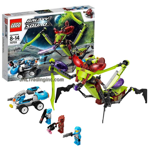 Lego Year 2013 Galaxy Squad Series 10 Inch Long Vehicle Set #70703 - STAR SLICER with Shooting Function, Stinging Claws and a Cocoon Plus 2-in-1 Vehicle, Solomon Blaze, Robot Sidekick and Red Buggoid (Total Pieces: 311)