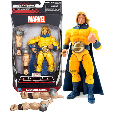 "Hasbro Year 2015 Marvel Legends Infinite The Allfather Series 7"" Tall Action Figure - Avenging Allies Marvel's SENTRY with The Allfather's 1 Pair of Arm"