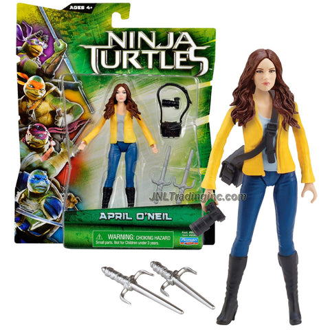 Playmates Year 2014 Teenage Mutant Ninja Turtles TMNT Movie Series 5 Inch Tall Action Figure - APRIL O'NEIL with Camera, Camera Bag and Pair of Sais