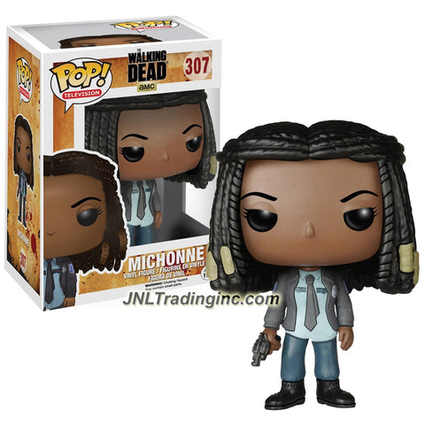 Funko Year 2015 Pop! Television AMC The Walking Dead Series 4 Inch Tall Vinyl Bobble Head Figure #307 - MICHONNE with Gun