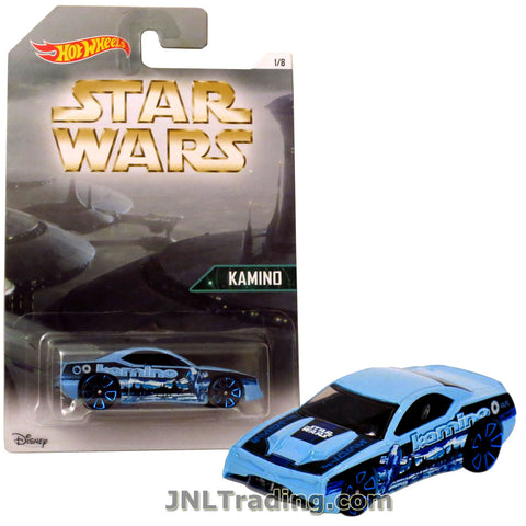 Hot Wheels Year 2015 Star Wars Series 1:64 Scale Die Cast Car Set 1/8 - Light Blue KAMINO RAPID TRANSIT DJL08